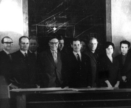 Participants of the First meeting on Stepanov method, on April, 13th, 1967.